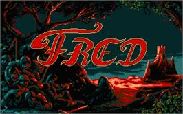 Title screen of Feud on the Atari ST.