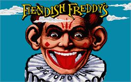 Title screen of Fiendish Freddy's Big Top O' Fun on the Atari ST.