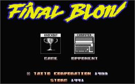 Title screen of Final Blow on the Atari ST.