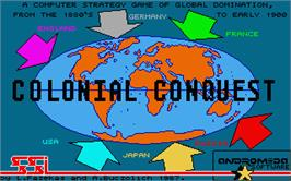 Title screen of Final Conflict on the Atari ST.