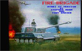 Title screen of Fire Brigade on the Atari ST.