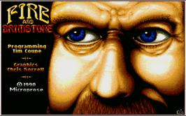 Title screen of Fire and Brimstone on the Atari ST.