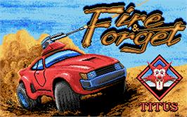 Title screen of Fire and Forget on the Atari ST.