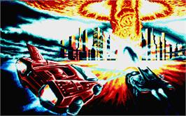 Title screen of Fire and Forget 2: The Death Convoy on the Atari ST.