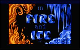 Title screen of Fire and Ice on the Atari ST.