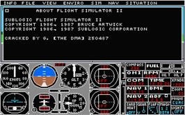 Title screen of Flight Simulator 2 on the Atari ST.