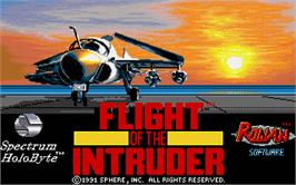 Title screen of Flight of the Intruder on the Atari ST.