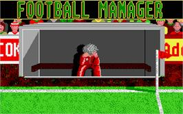 Title screen of Football Manager on the Atari ST.