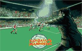 Title screen of Football Manager 2 on the Atari ST.