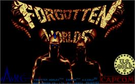 Title screen of Forgotten Worlds on the Atari ST.