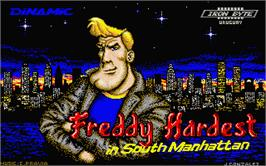 Title screen of Freddy Hardest in South Manhattan on the Atari ST.