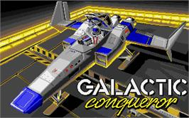 Title screen of Galactic Conqueror on the Atari ST.