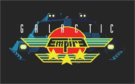 Title screen of Galactic Empire on the Atari ST.