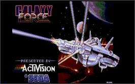 Title screen of Galaxy Force 2 on the Atari ST.