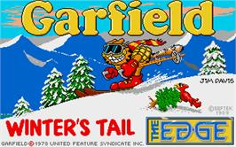 Title screen of Garfield: Winter's Tail on the Atari ST.