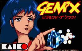 Title screen of Gem'X on the Atari ST.