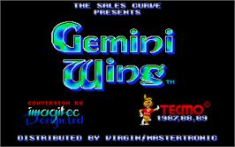 Title screen of Gemini Wing on the Atari ST.