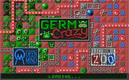 Title screen of Germ Crazy on the Atari ST.