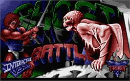 Title screen of Ghost Battle on the Atari ST.