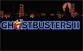 Title screen of Ghostbusters 2 on the Atari ST.