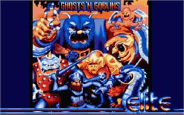 Title screen of Ghosts'n Goblins on the Atari ST.