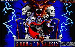 Title screen of Ghouls'n Ghosts on the Atari ST.
