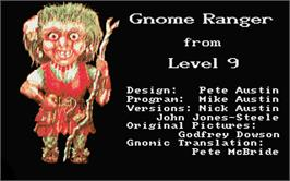 Title screen of Gnome Ranger on the Atari ST.