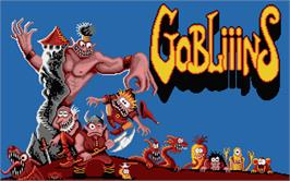 Title screen of Gobliiins on the Atari ST.