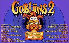 Title screen of Gobliins 2: The Prince Buffoon on the Atari ST.
