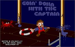 Title screen of Goin' Down with the Captain on the Atari ST.