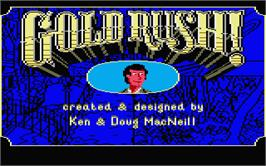 Title screen of Gold Rush on the Atari ST.