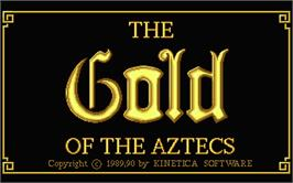 Title screen of Gold of the Aztecs on the Atari ST.