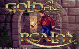 Title screen of Gold of the Realm on the Atari ST.
