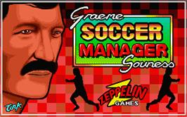 Title screen of Graeme Souness Soccer Manager on the Atari ST.