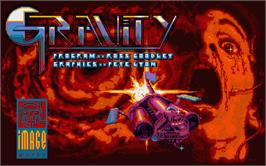 Title screen of Gravity on the Atari ST.