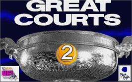 Title screen of Great Courts 2 on the Atari ST.