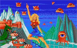 Title screen of Great Giana Sisters on the Atari ST.