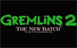 Title screen of Gremlins 2: The New Batch on the Atari ST.