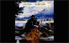Title screen of Guild of Thieves on the Atari ST.