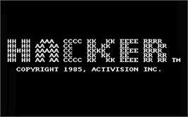 Title screen of Hacker on the Atari ST.
