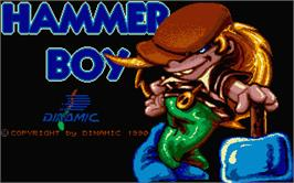 Title screen of Hammer Boy on the Atari ST.