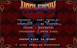Title screen of Harlequin on the Atari ST.