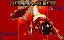 Title screen of Hellraider on the Atari ST.