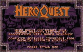 Title screen of Hero Quest on the Atari ST.