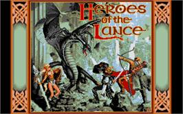 Title screen of Heroes of the Lance on the Atari ST.