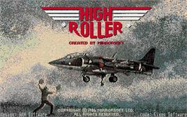 Title screen of High Roller on the Atari ST.