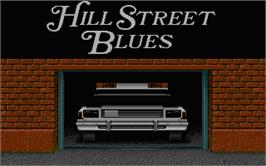 Title screen of Hill Street Blues on the Atari ST.
