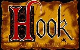 Title screen of Hook on the Atari ST.