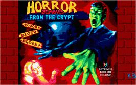 Title screen of Horror Zombies from the Crypt on the Atari ST.
