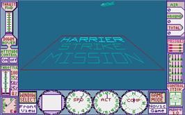 Title screen of Hostage: Rescue Mission on the Atari ST.